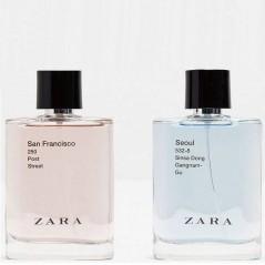 Zara Seoul and Zara Francisco Two Cologne Sets