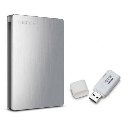 Toshiba Slim II USB 3.0 Hard Drive 1 TB with bonus 16gb Flash Drive