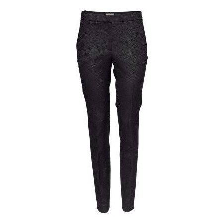 Black Slim-fit Ankle-length Pants