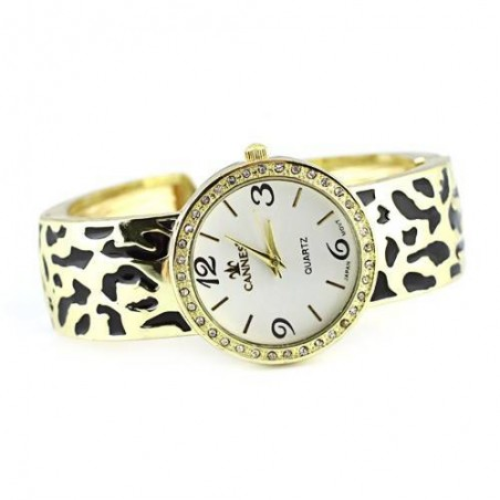 Leopard Skin Embossed Watch