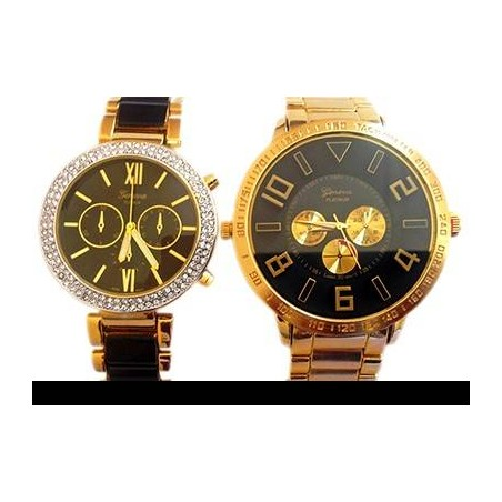 Embossed Boyfriend Girlfriend Watches