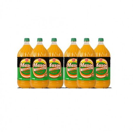 Mazoe Orange Crush Less Sugar 2L 6 Pack